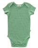 Little oeuf baby girl onesie in green checks