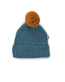 Little oeuf baby accessories pom pom hat in bluestone
