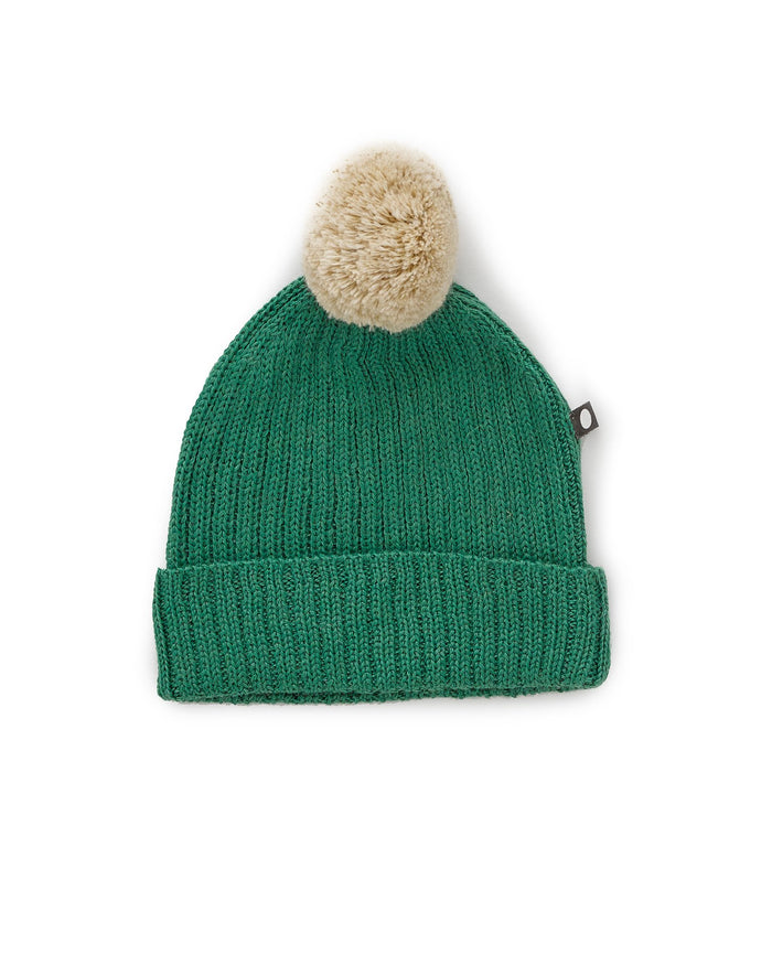 Little oeuf baby accessories pom pom hat in grass green