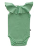 Little oeuf baby girl sleeveless ruffle onesie in green checks