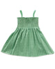 Little oeuf girl smock dress in green checks