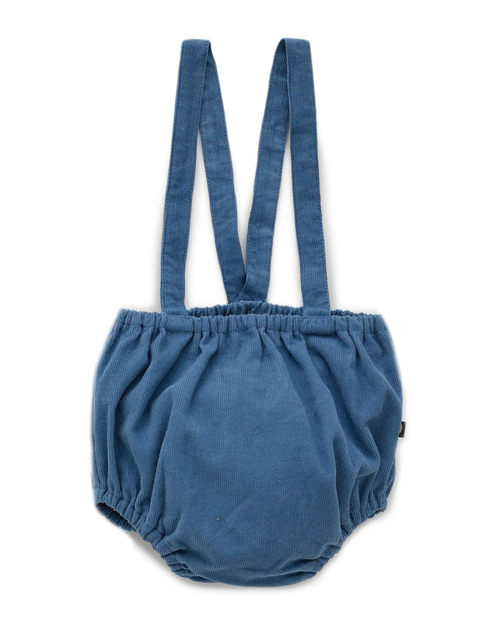 Little oeuf baby girl suspender bloomer in midnight blue