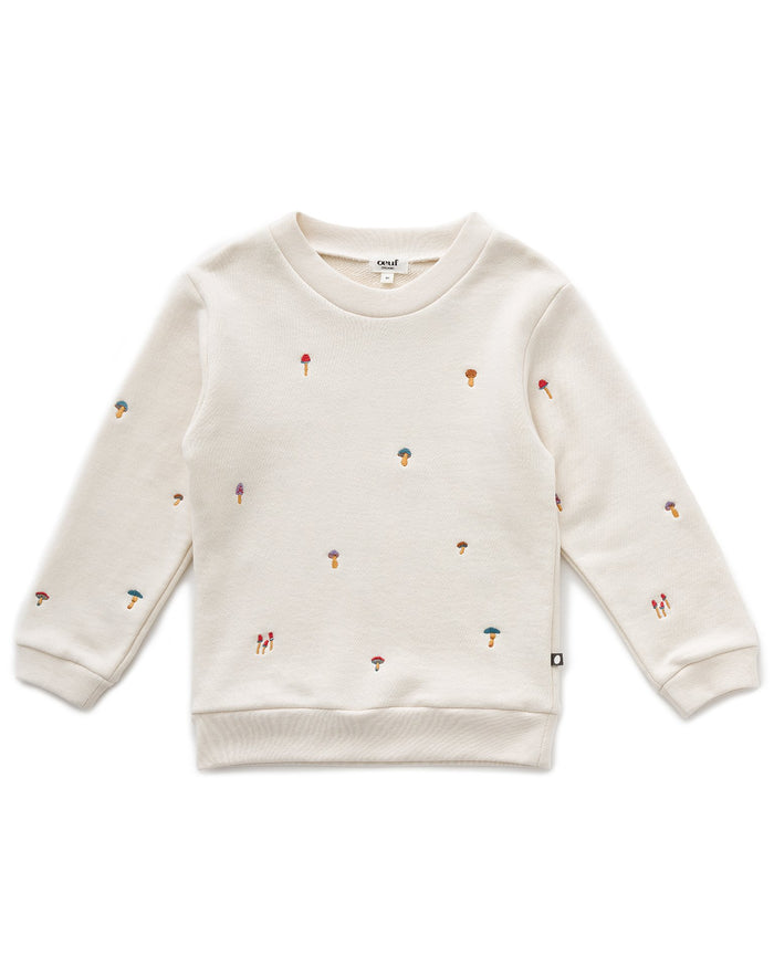 Little oeuf girl sweatshirt in gardenia