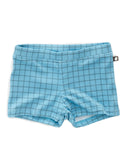 Little oeuf boy swim shorts in blue checks