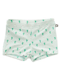 Little oeuf boy swim shorts in leek print