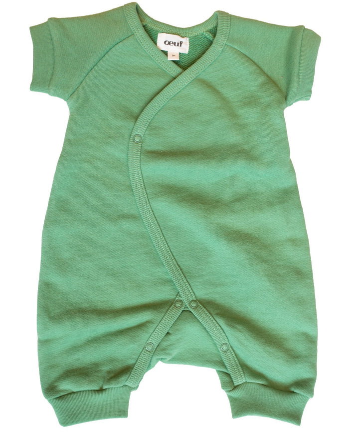 Little oeuf baby girl terry kimono in green