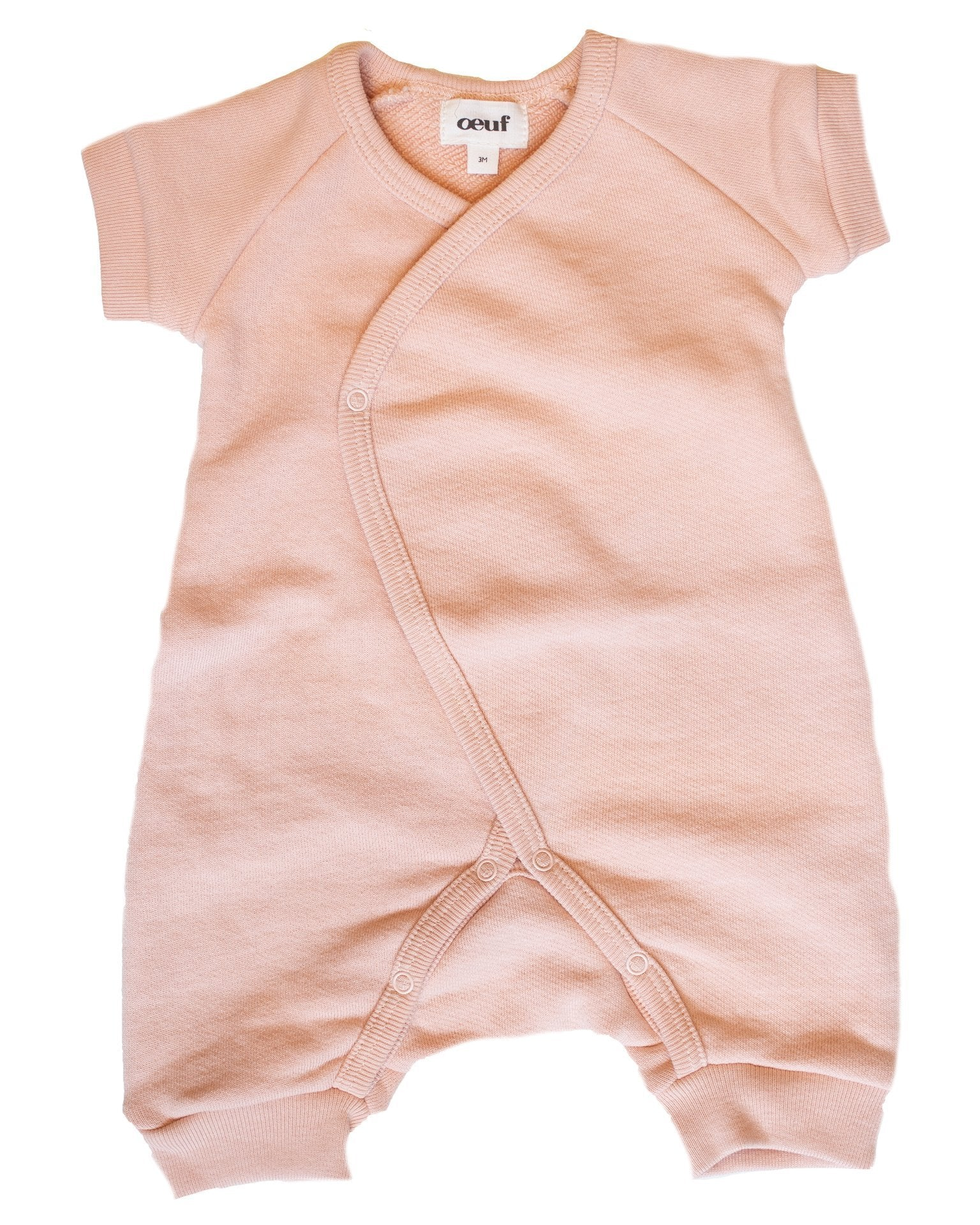 Little oeuf baby girl terry kimono in light pink