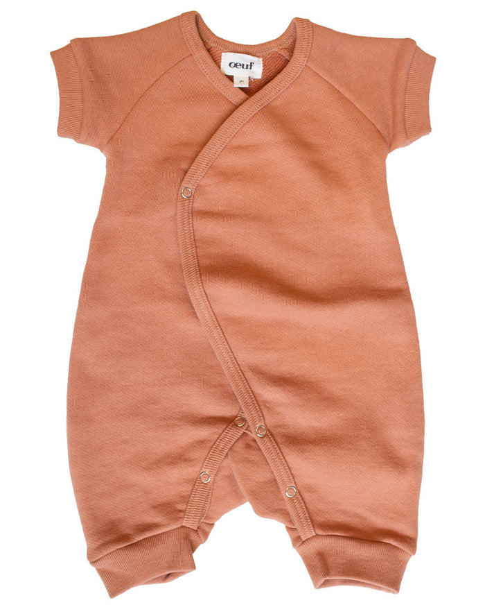 Little oeuf baby girl terry kimono in toasted nut