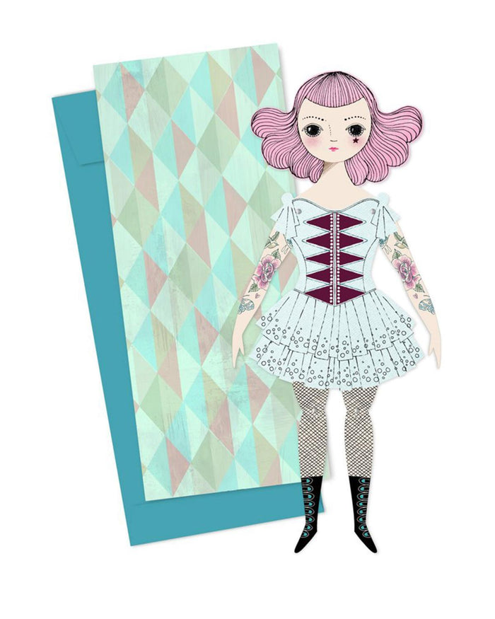Little of unusual kind play amelia mailable paper doll