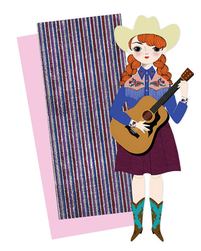 Little of unusual kind play audrey mailable paper doll