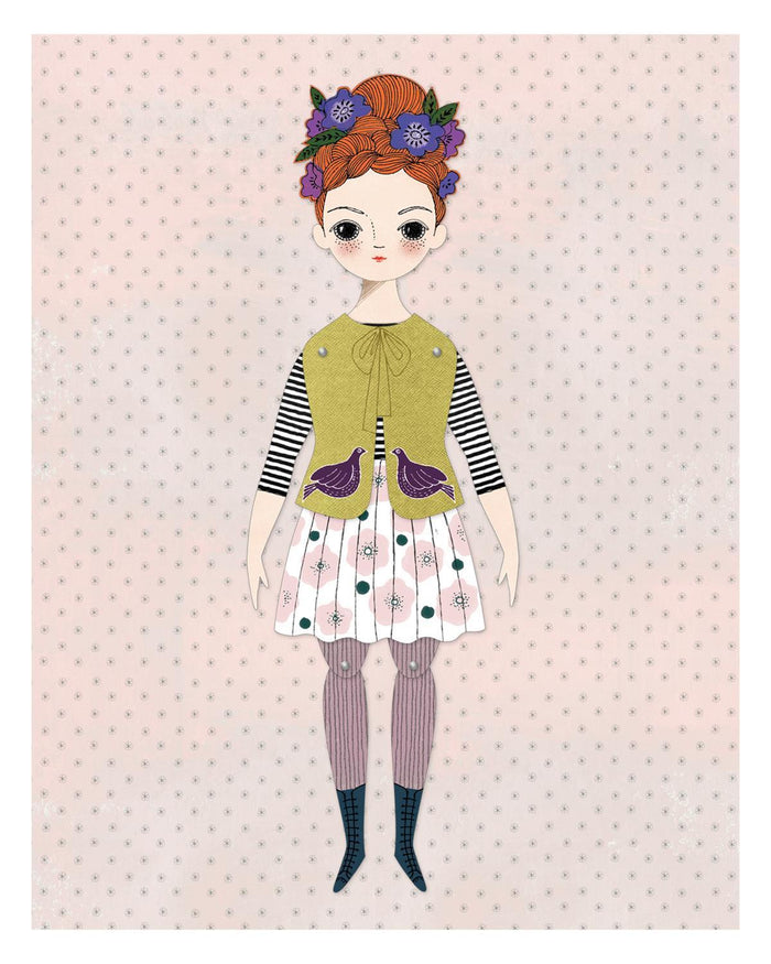 Little of unusual kind play Florence Paper Doll Kit