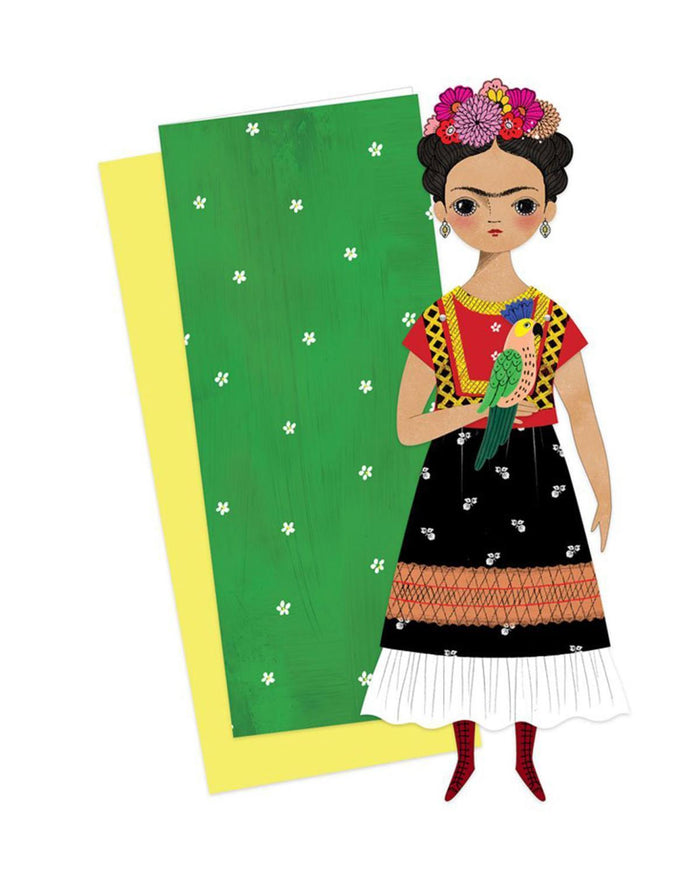 Little of unusual kind play frida mailable paper doll