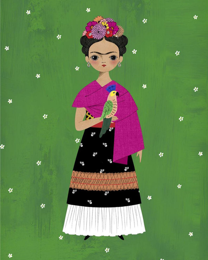 Little of unusual kind play frida paper doll kit