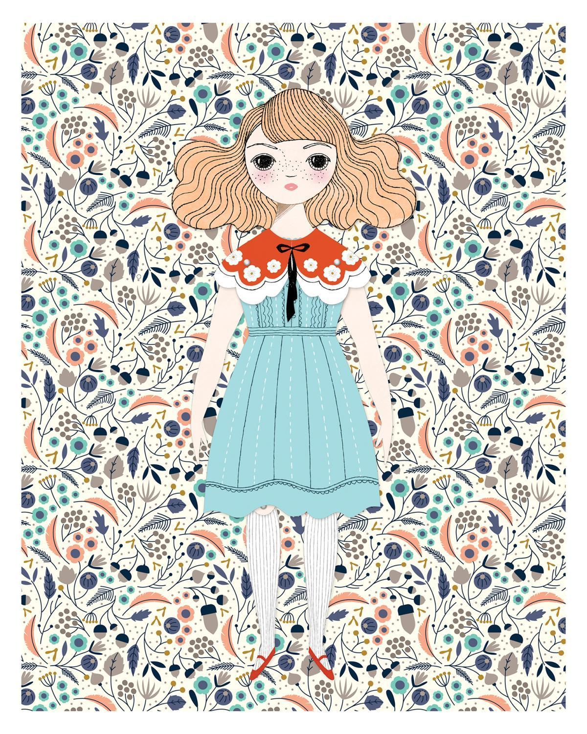 Little of unusual kind play Magnolia Paper Doll Kit