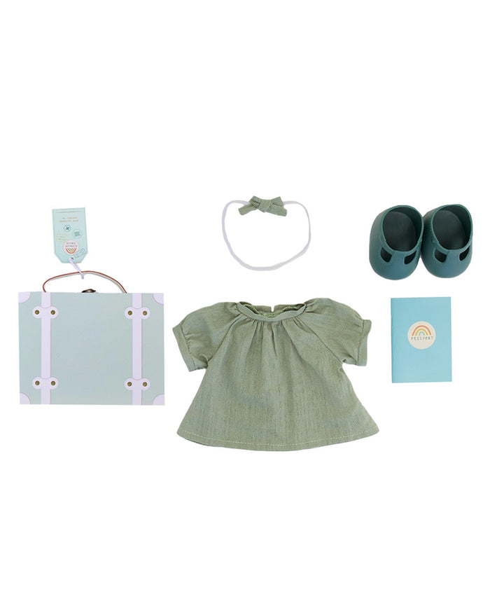 Little olli ella usa play dinkum doll travel togs in mint
