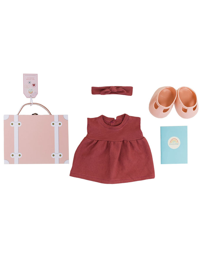Little olli ella usa play dinkum doll travel togs in rose