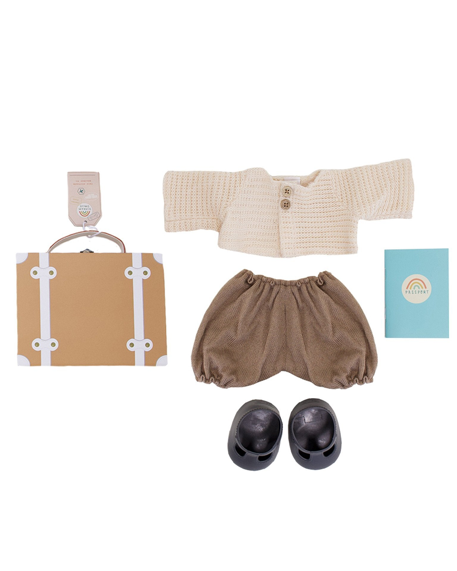 Little olli ella usa play dinkum doll travel togs in rust
