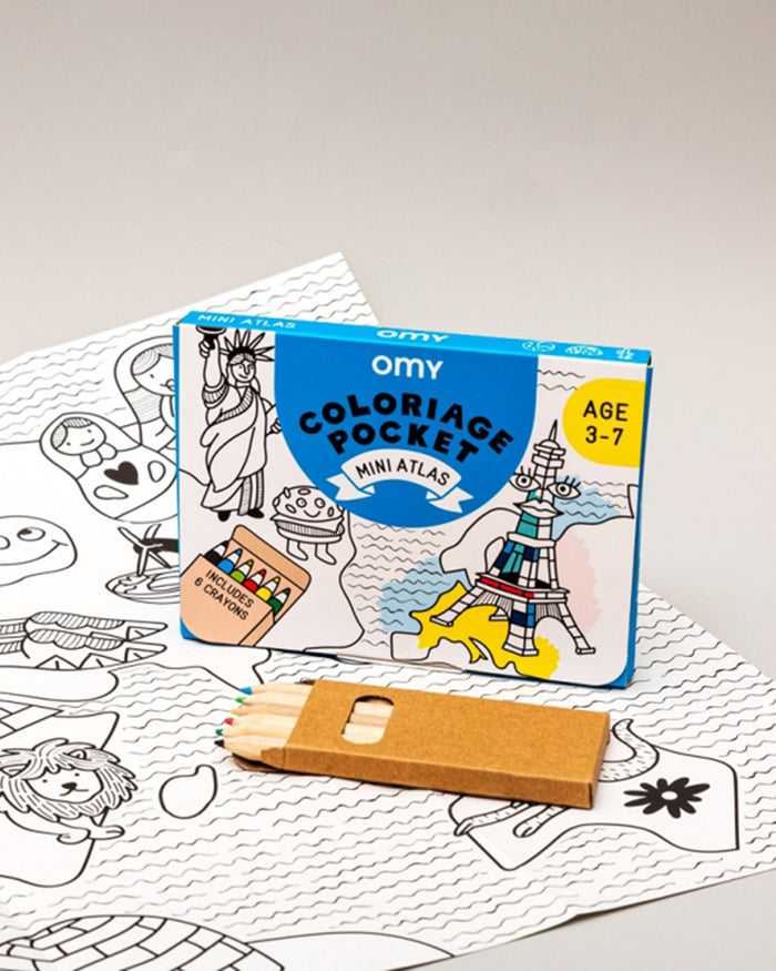 Little omy play atlas pocket coloring pocket