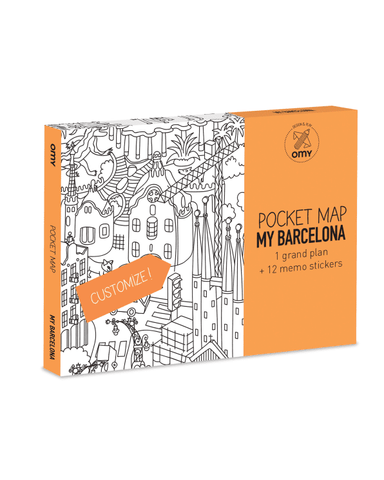 Little omy play Barcelona Pocket Map