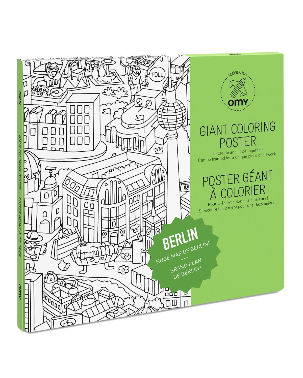 Little omy play Berlin Coloring Poster