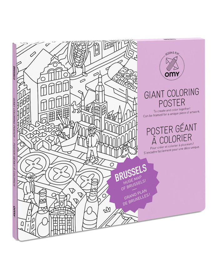 Little omy play Brussels Coloring Poster