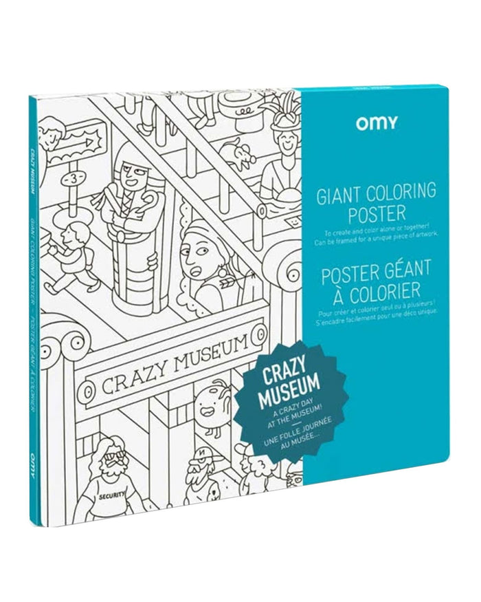 Little omy play crazy musuem coloring poster