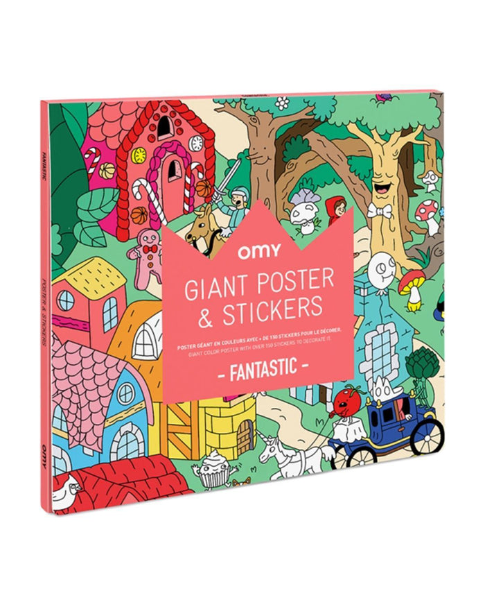 Little omy play fantastic sticker poster
