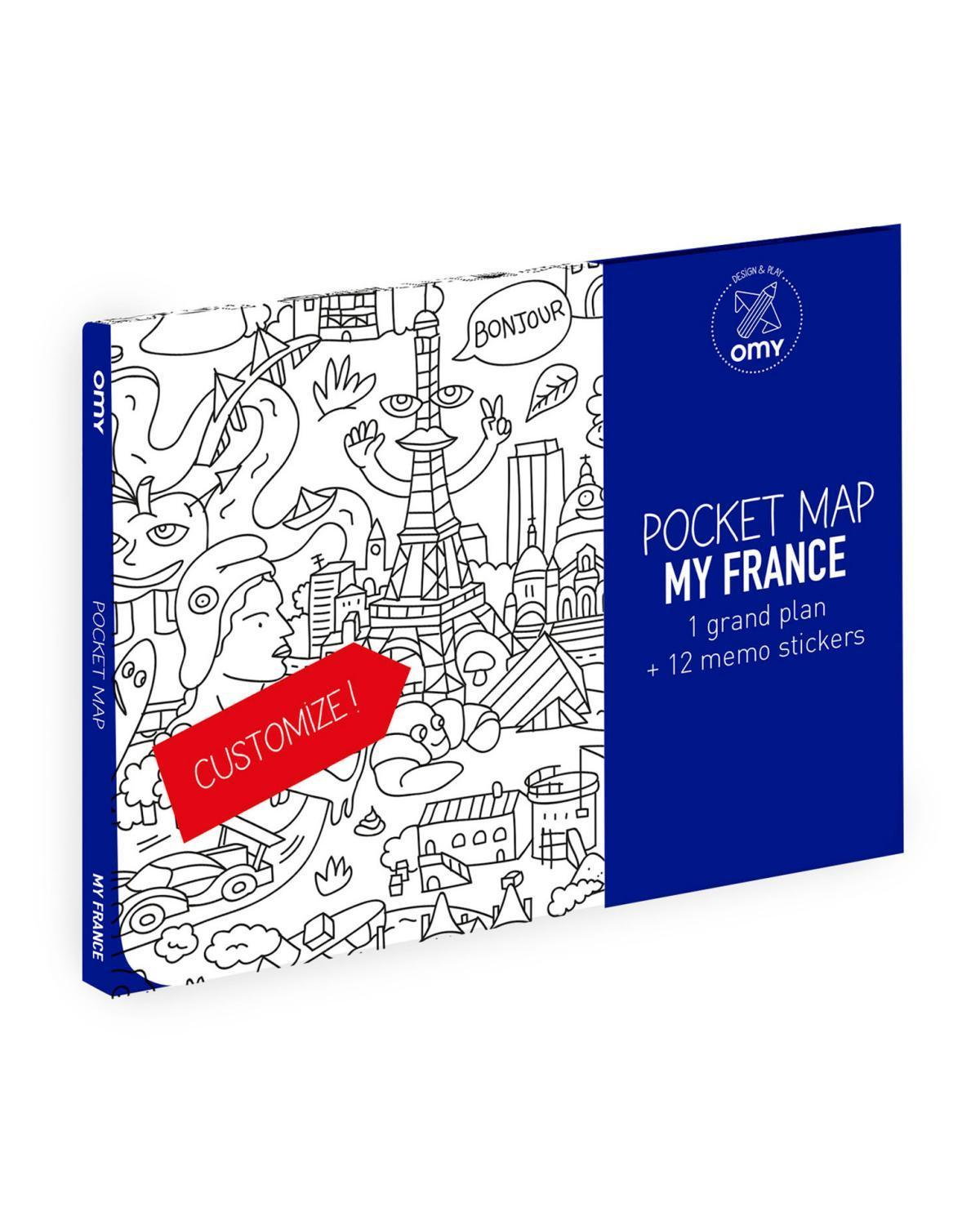 Little omy play France Pocket Map
