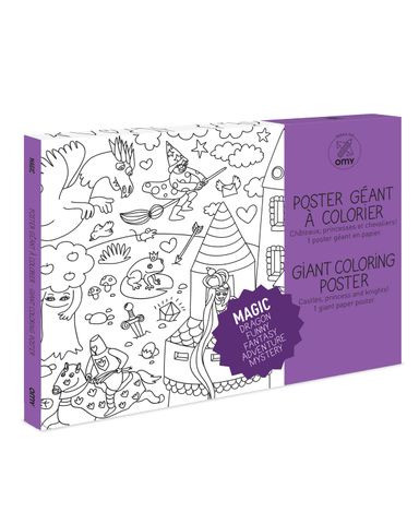 Little omy play Magic Coloring Poster