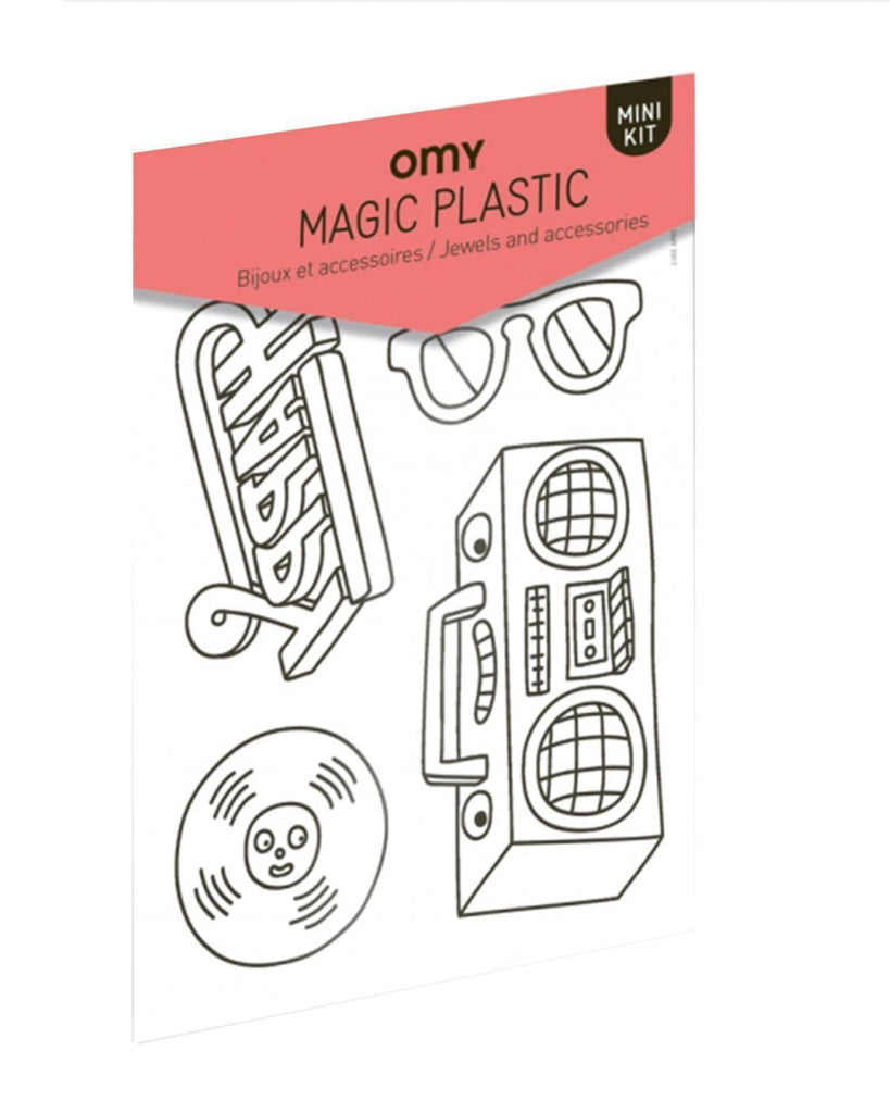Little omy play Magic Plastic in Music