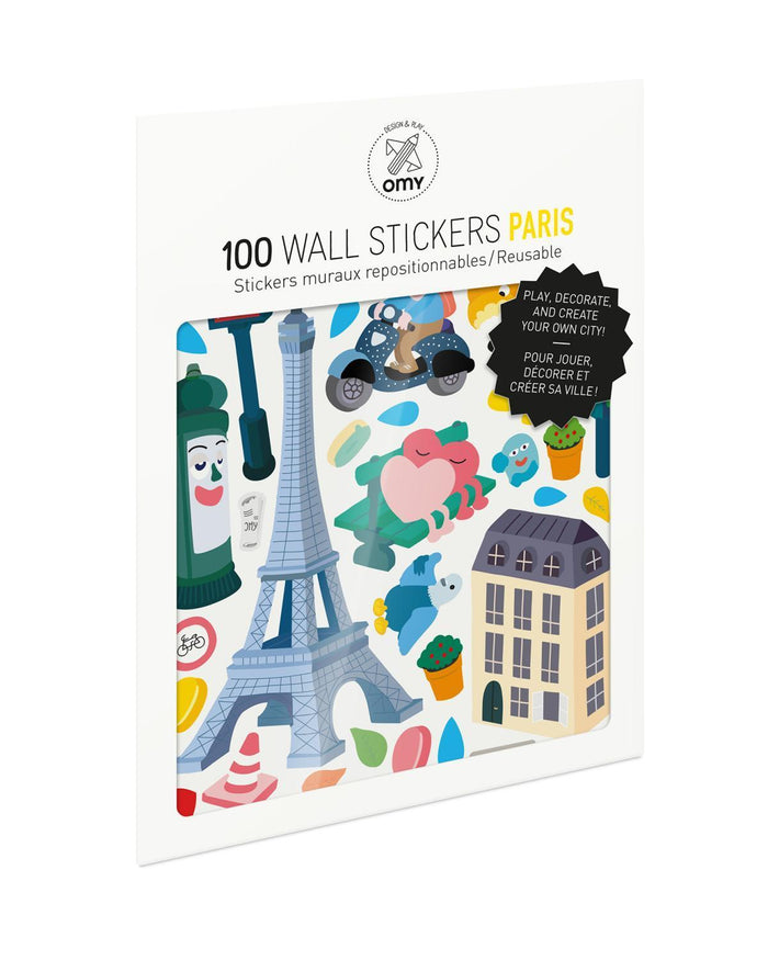 Little omy room Paris Stickers