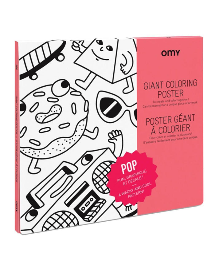 Little omy play Pop Coloring Poster