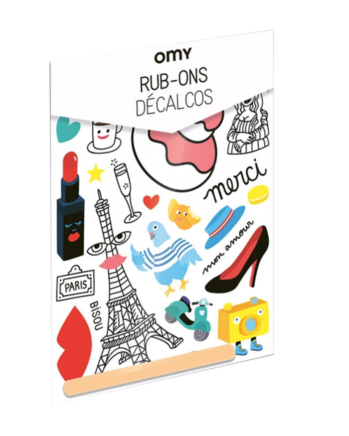 Little omy play Rub-On Decals Paris