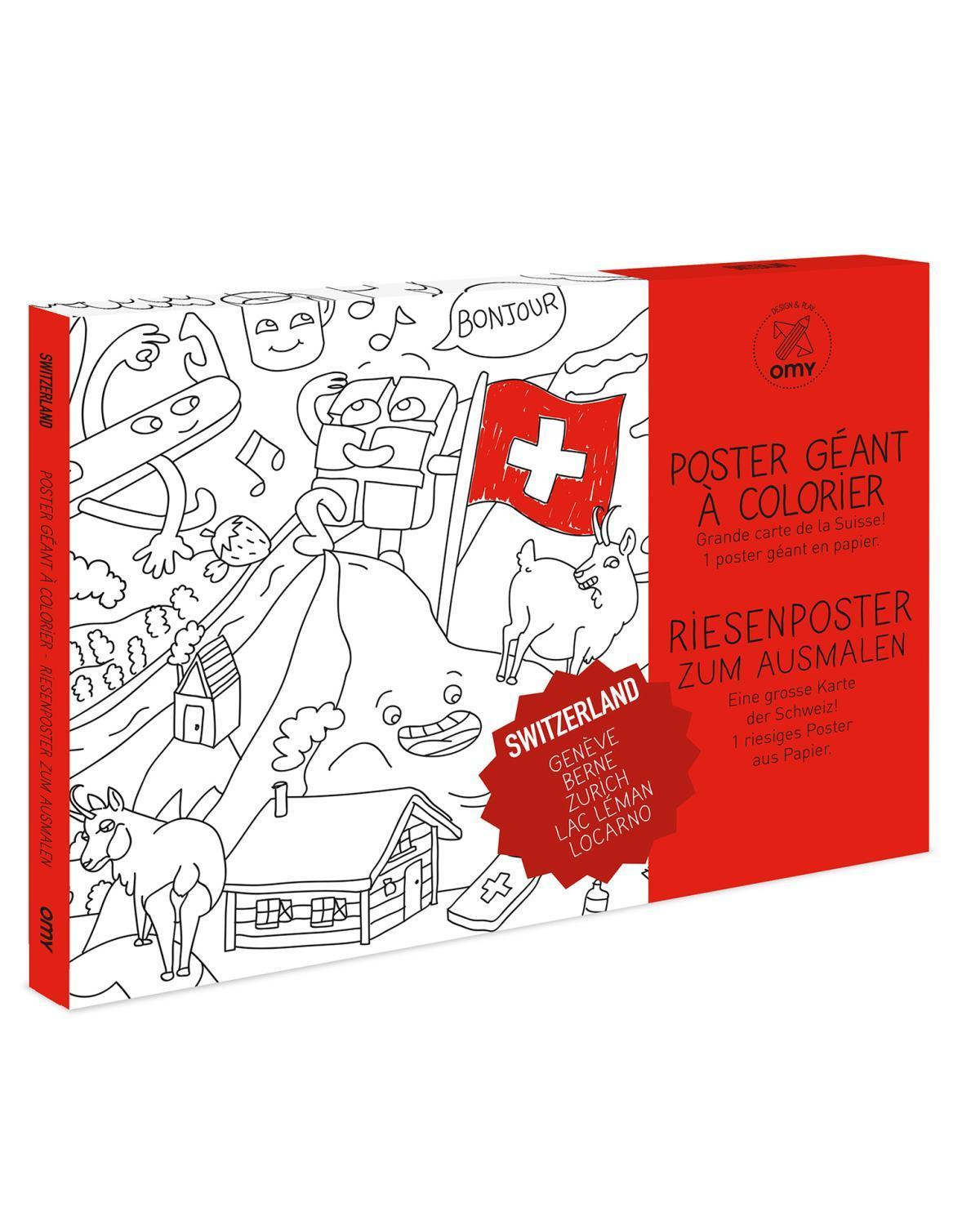 Little omy play Suisse Coloring Poster