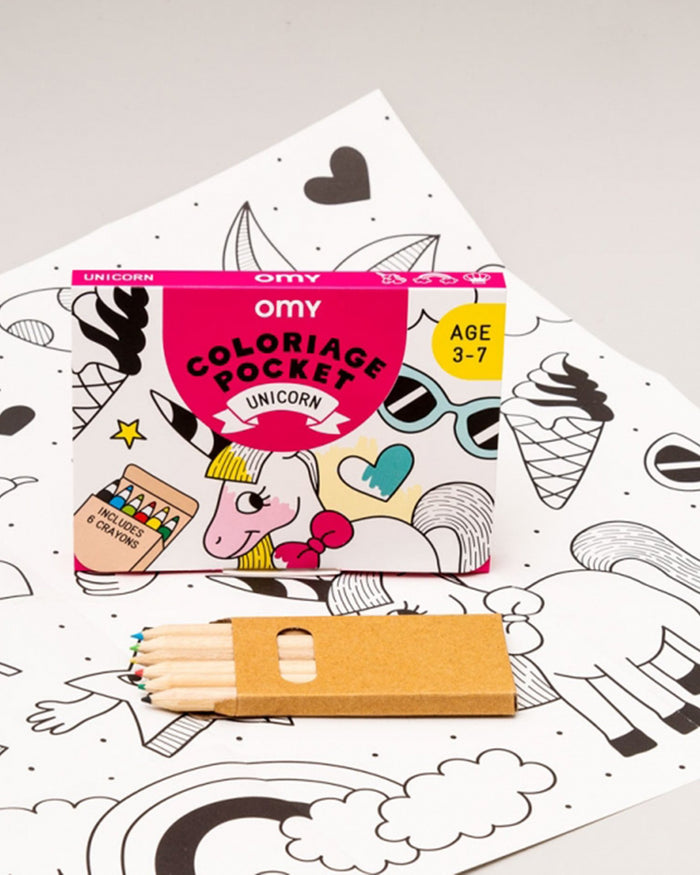 Little omy play unicorn pocket coloring pocket