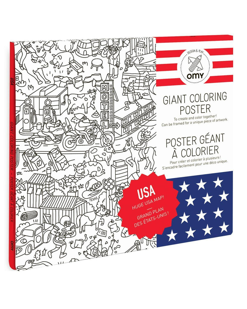 Little omy play USA Coloring Poster