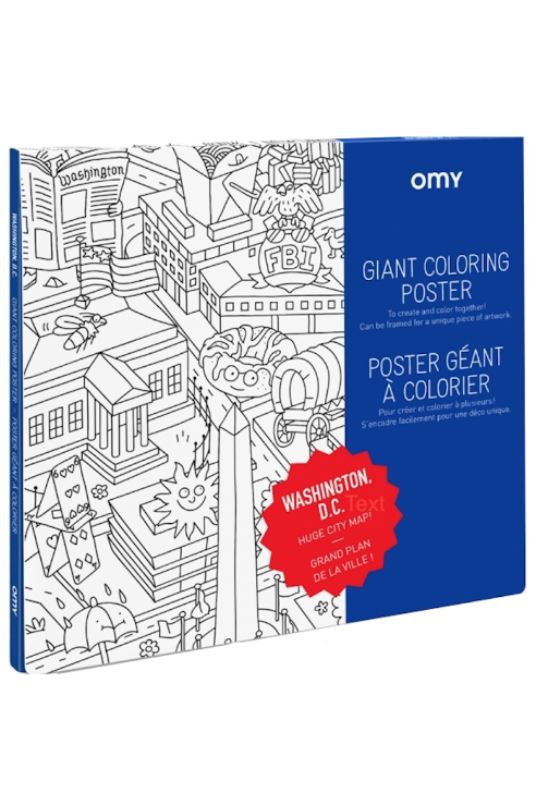 Little omy play Washington DC Coloring Poster