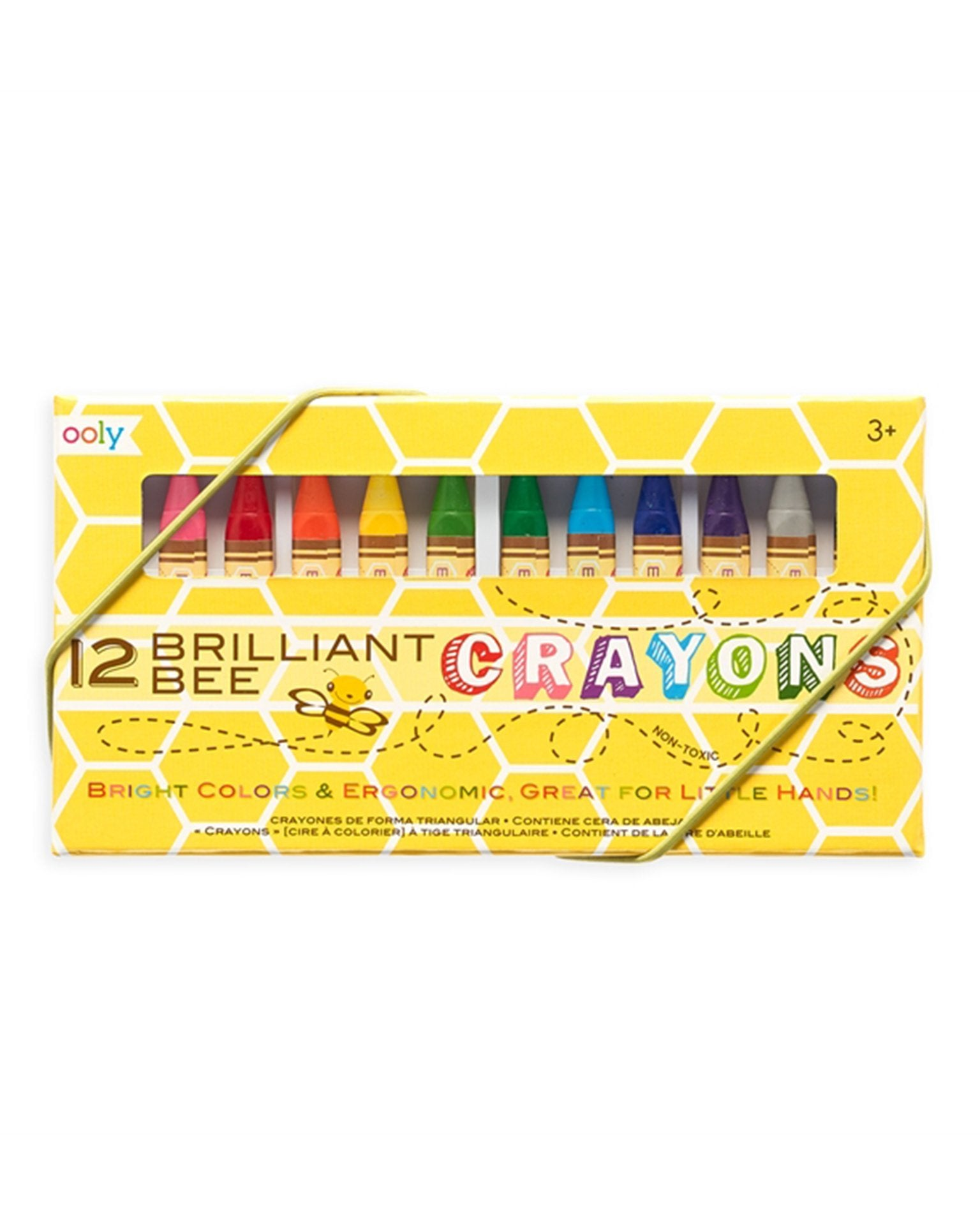 Little ooly play brilliant bee crayons set of 12
