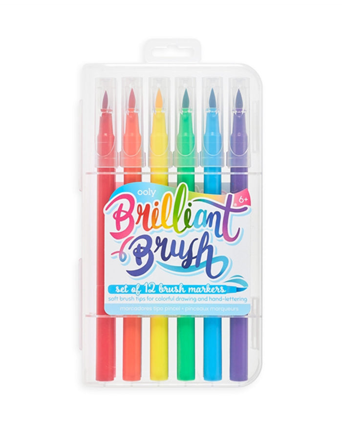 Little ooly play brilliant brush markers set of 12