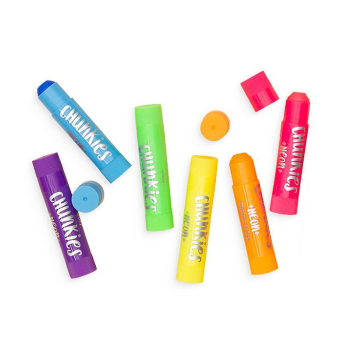 Little ooly play chunkies paint sticks neon - set of 6
