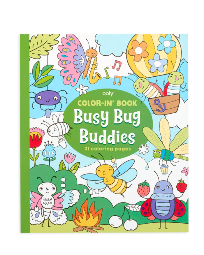Little ooly play color-in' book: busy bug buddies