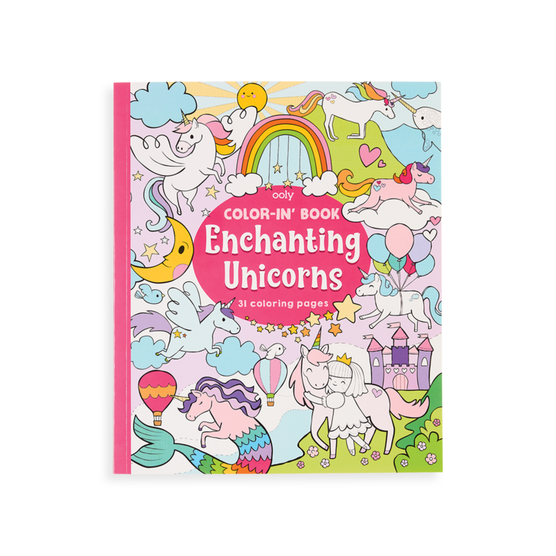 Little ooly play Color-in' Book: Enchanting Unicorns