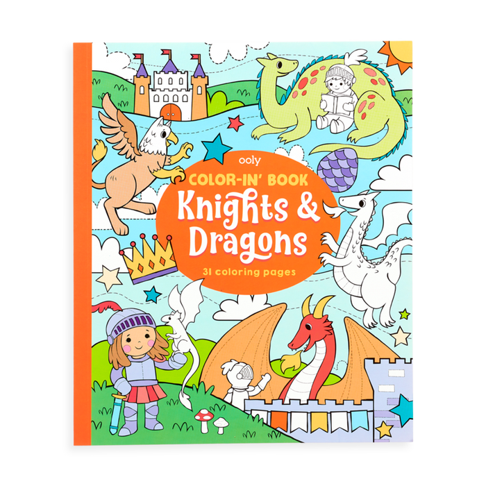 Little ooly play Color-in' Book: Knights and Dragons