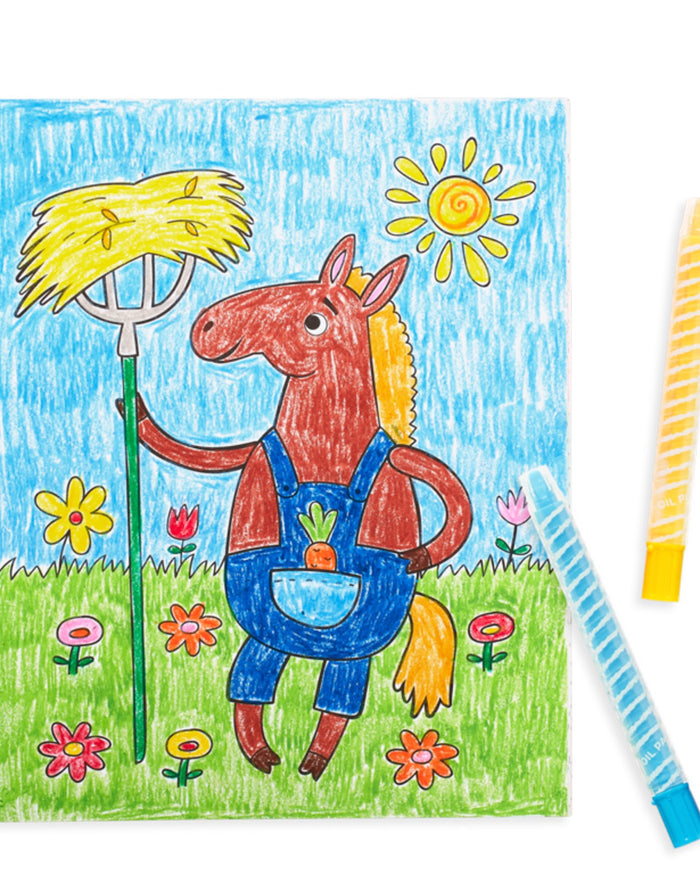 Little ooly play color-in' book: little farm animals