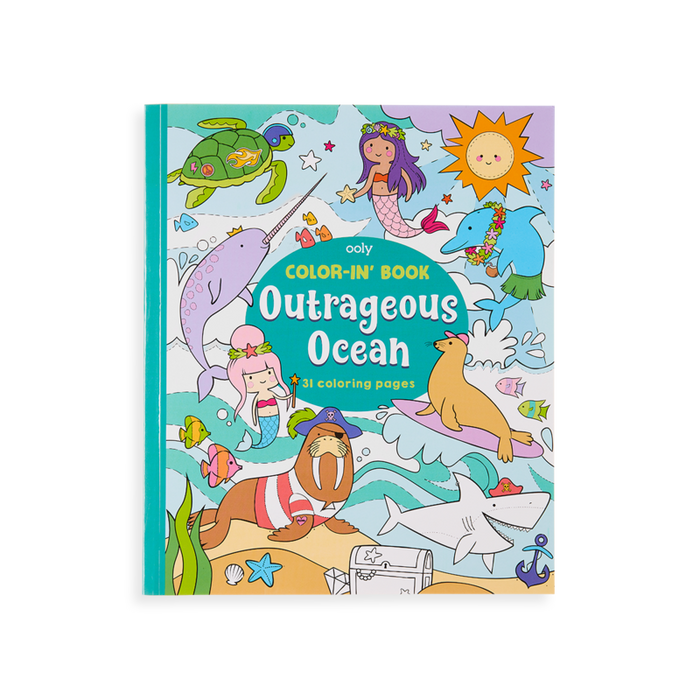 Little ooly play Color-in' Book: Outrageous Ocean