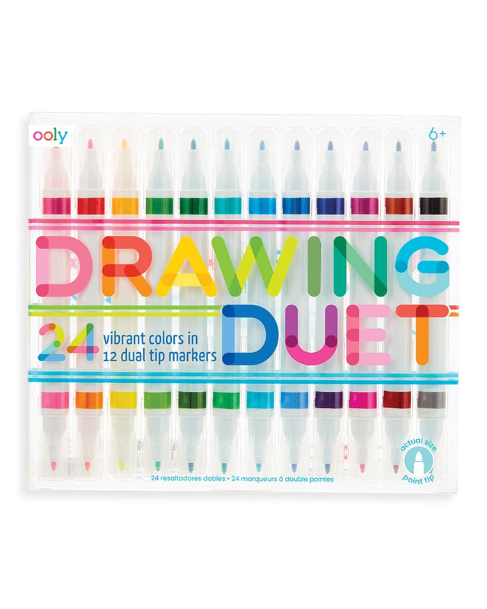 Little ooly play drawing duet double ended markers