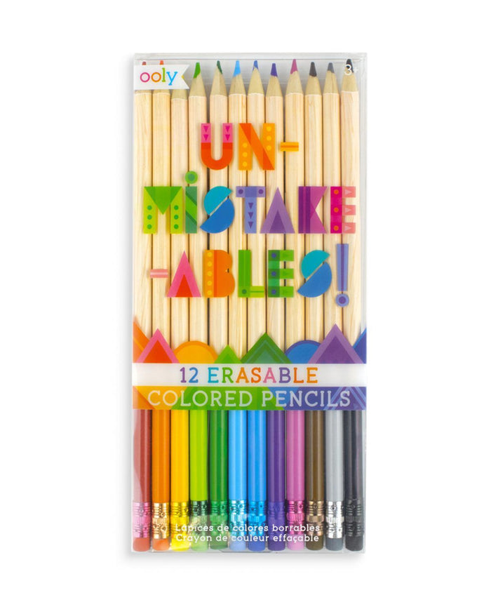 Little ooly play erasable colored pencils
