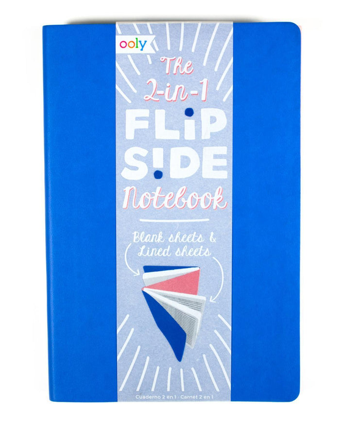 Little ooly play Flipside Double Sided Notebook in Blue