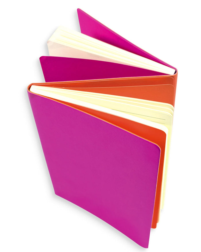Little ooly play Flipside Double Sided Notebook in Hot Pink