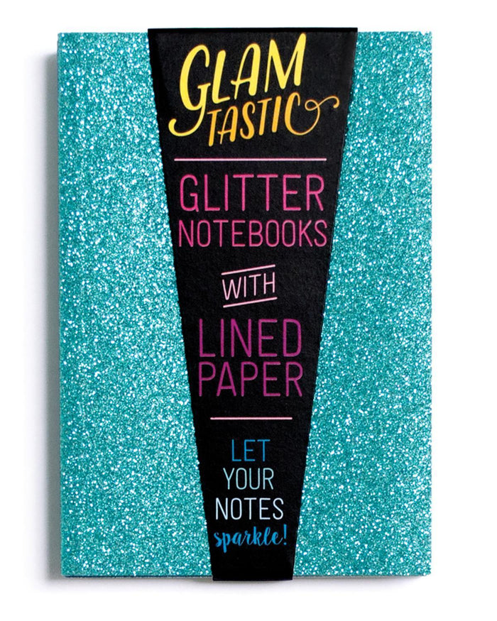 Little ooly paper+party Glamtastic Notebook Set in Aqua + Sapphire